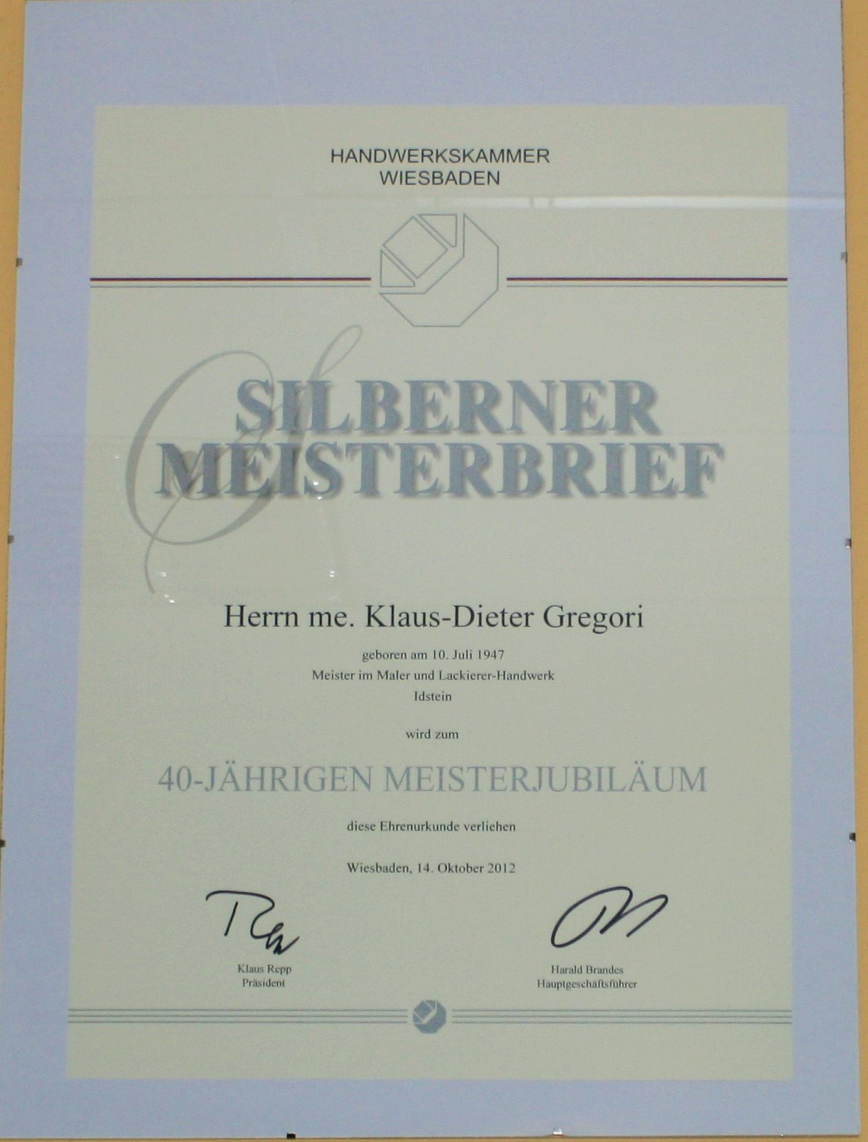 Malerbetrieb Wiesbaden zertifikate putz und malerbetrieb gregori gmbh